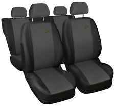 Seat covers fit Ford Focus Mk1 Mk2 Mk3 Mk4 FULL SET  black / dark grey