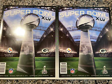 New listing PITTSBURGH STEELERS VS GREEN BAY PACKERS SUPER BOWL 45 XLV GAME PROGRAMS