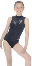 Zone Girls Leotard Black Velour Size 30""
