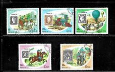 HICK GIRL- BEAUTIFUL USED LAOS STAMPS   SC#1009-13  1990 STAMP WORLD       E1021
