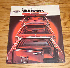 Original 1982 Ford Station Wagon Sales Brochure 82 Escort LTD Granada