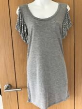 AX ARMANI EXCHANGE BLACK COLD SHOULDER STUDDED TOP, SIZE S, EXCELLENT CONDITION