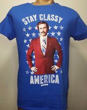 Anchorman movie stay classy america Blue T shirt Official Merchandise M