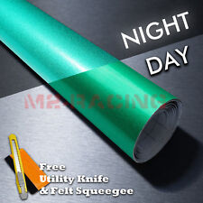 """*36""""x48"""" Reflective Green Vinyl Wrap Sticker Decal Graphic Sign Adhesive Film"""