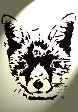 FOX Faccia in plastica Stencil Shabby Chic Rustico Vintage a4 297x210mm Wall Art