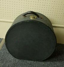 Large Antique Vintage Hatbox Case With Leather Handle