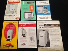 JOBLOT VINTAGE RETRO TRIANCO SPEEDLYN JANITOR  BOILERS WATER HEATER LEAFLETS