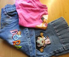 DORA OUTFIT FOR LITTLE GIRLS JEANS & T SHIRT SET SIZE 7