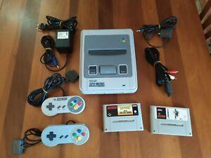 Super Nintendo SNES console originale PAL + Super Mario All Stars + World