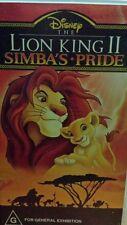 The Lion King II Simba's Pride DISNEY VHS VIDEO