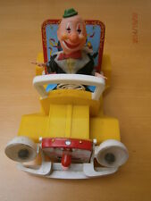 Alps Made in Japan Tinplate Clown in a Car  vintage toy