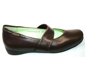 Mephisto Women's Size 9 Slip On Mary Jane Shoes Leather Brown