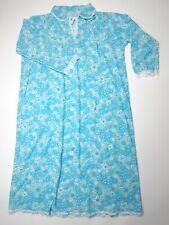 Vintage 1960s/1970s Fleecy Inside Winter Floral Nightdress Size 12-14 Nightie