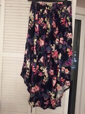 George black/multi floral long jersey skirt in size 12