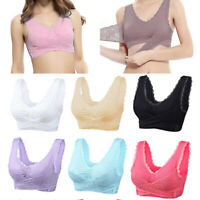 Women Seamless Push Up Lift Bra Front Criss Cross Side Buckle Lace Bra Underwear