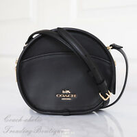 New Coach F27971 Canteen Crossbody In Smooth Calf Leather Black