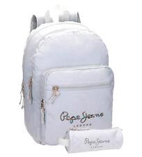Pepe Jeans Harlow mochila escolar gris