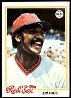 1978 Topps Nm-Mt Stock Image Jim Rice Boston Red Sox #670