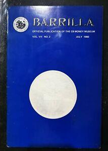 PHILIPPINES: BARRILLA BOOK VOLUME VII NO. 2 JULY 1980 USED