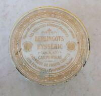 Boite Métal Ancienne Bonbons Berlingots Eysséric Ronde Carpentras jaune