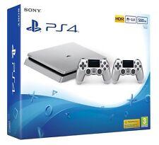 Sony PLAYSTATION Console 500GB PS4 ARGENTO-EDIZIONE LIMITATA-NUOVO in azione ora!