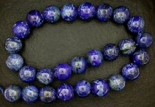 14mm Round Lapis lazuli Gem Gemstone Bead 16 Inch  Strand REAL Natural CLOSEOUT
