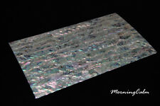 2 Sheets of White Paua Coated Veneer (MOP Shell Craft Abalone Mother of Pearl)