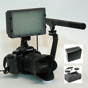 Pro T8i VM SC-12L mic light F970 for Canon EOS Rebel T7i T6i T6s 6D T5i T5 T3i