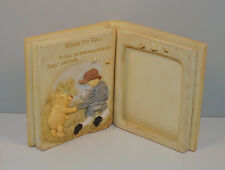 "6.5"" Ceramic Book Picture Frame for 3X4 Photo Charpente Classic Winnie The Pooh"