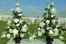 Silk Flower Arrangements Church Pew Wedding Altar Vase Banquets Reception Floral