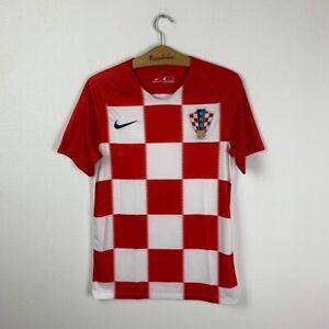 CROATIA HOME FOOTBALL SHIRT 2018/2020 SOCCER JERSEY MEN'S NIKE SIZE S