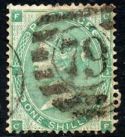 1862 Sg 89 1s deep green 'CF' with 79 SW District Office Duplex Cancel Fine Used