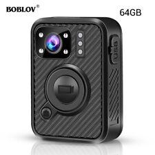 BOBLOV FHD 1440P Body Worn Camera 64GB GPS WiFi Security Pocket Video Recorder