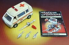 Vintage Hasbro Transformers G1 Pre-Rub Autobot Car Ratchet Complete w/Insts