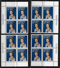 Canada Stamps — Set of 4 Corner Blocks — 1984, Royal Visit #704 — MNH