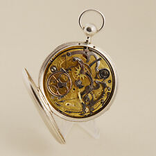 CARILLON POCKET WATCH REPEATER QUARTER AND HOURS IN SILVER,THREE HAMMER(VIDEO)