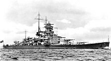 12 PHOTOS OF WWII GERMAN WARSHIPS - BISMARCK, SCHARNHORST, SCHEER, TIRPITZ etc