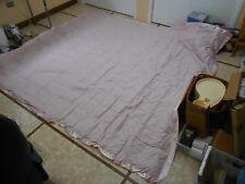 King Size Linen Source Silk Trim Down Blanket Bed Spread  Rose Pink Color