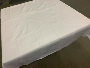 "75"" x 73"" Large White Premium Tablecloths for Wedding Banquet Restaurant"