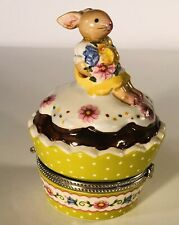 VILLEROY AND BOCH Cupcake Bunny Rabbit Trinket Box