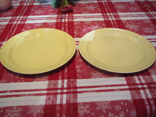 """1930-40's TS&T LuRay pastel 2-persian cream (yellow) 9"""" dinner plates-excond"""