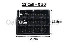 50 x 12 cellule literie plante packs de qualité commerciale plateaux à semis insert barquette en plastique