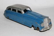 1930's Tootsietoy Jumbo Streamline Sedan, 2-tone Blue & Silver,  Original