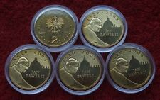 POLAND SET OF COINS 2 ZL POPE JOHN PAUL 2005 YEAR LOT ONE PIECE 1 PC CAPSULE UNC