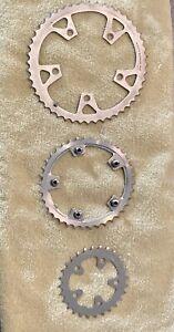 Shimano Biopace MTB Mountain Bike Chainrings 48 - 38 - 28
