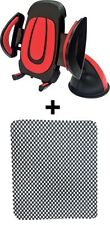 1 Red/Grey Universal Car Mobile Holder, 2 Anti Slip Mat For Car Dashboard Combo