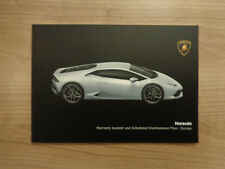 Lamborghini Huracan New Service History Book