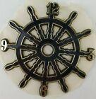 "Ramar Ind. Plastic Clock Face Ship Wheel 1983 Sticky Back 4"" Diameter Vintage"