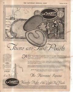1922 La Tausca Pearls Original ad
