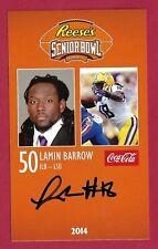 Lamin Barrow 2014 Senior Bowl Lsu Geaux Tigers Rookie Card Signed Denver Broncos